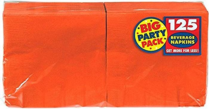 The Best Amscan Orange Beverage Napkins