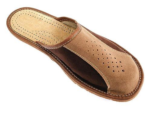 Nowbut Zapatillas de estar Por casa de Piel Para Hombre: Amazon.es: Zapatos y complementos
