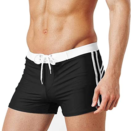 18da51ebfd Amazon.com : soarflight Summer Men's Swim Trunks Quick Dry Beach Shorts  with Drawstring, Fashion Solid Color Swim Trunks Oversize Square Leg  Swimsuit ...