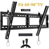 "Tilting TV Wall Mount Bracket for Most 40-90 Inch Flat Large Screen TV JUSTSTONE Low Profile Wall TV Mount Fits 16-24 Inch Wood Studs Max VESA 800x400mm (32""x16"") and up to 165 LBS"