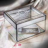Product review for J Devlin Box 841 CBE846 Personalized Wedding Card Box Engraved Glass Wedding Card Holder with Slot Reception Decor Keepsake Display