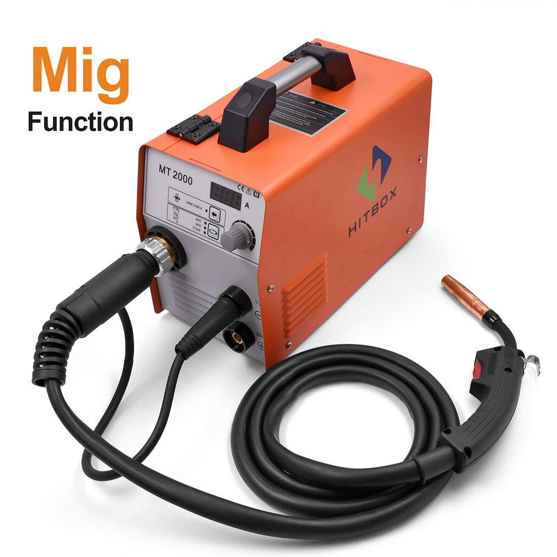 HITBOX MIG Welder Machine 180A 220V Gas and Gasless Inverter MIG CO2 Welding Machine