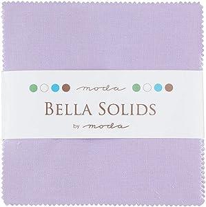 Bella Solids Lilac Moda Charm Pack by Moda Fabrics; 42-5