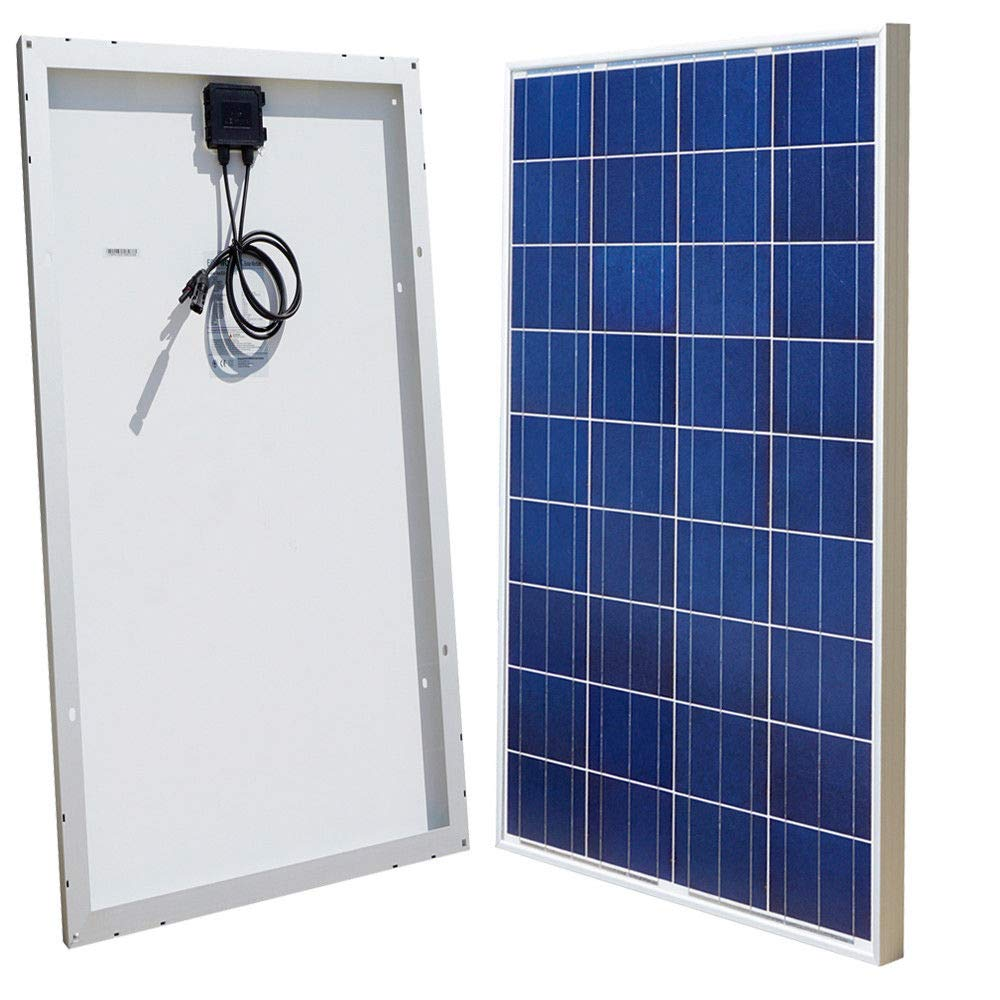 ECO-WORTHY 12V 120W Poly PV Solar Panel for Caravan Boat Home Off Grid A Class Battery Charge