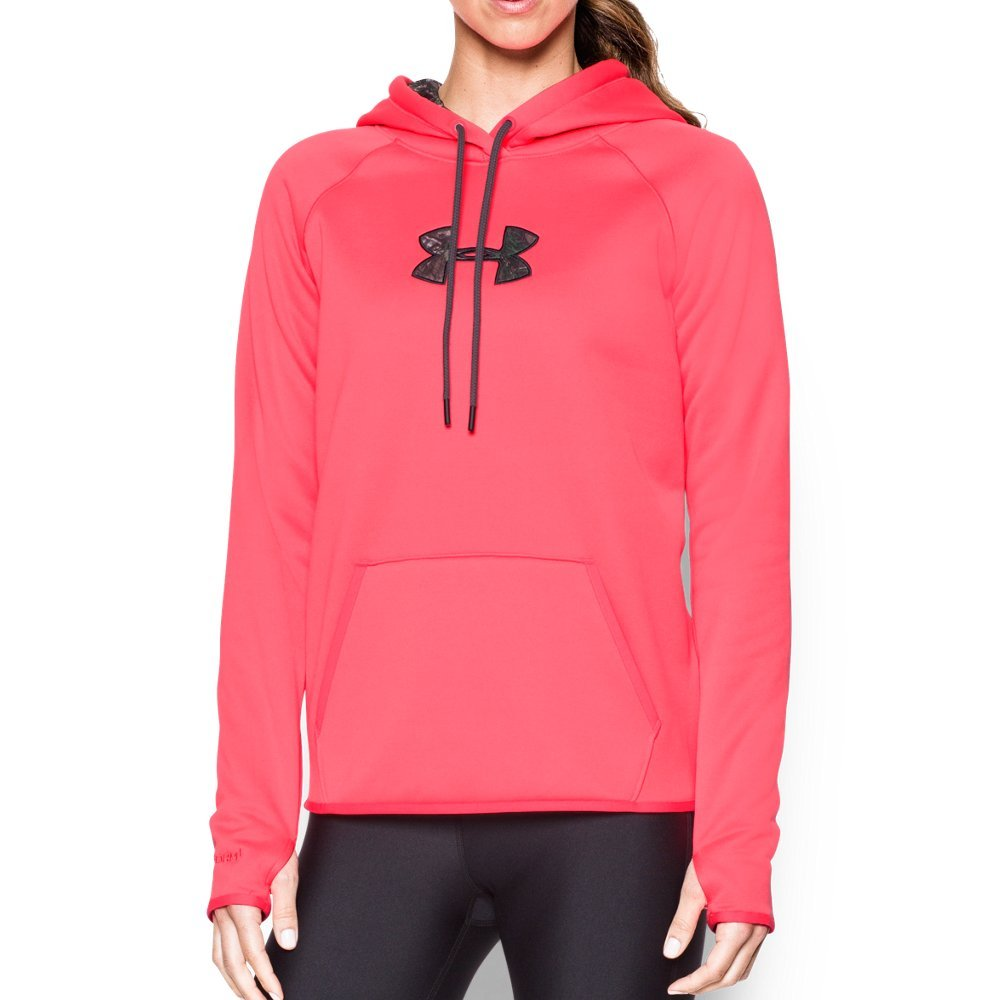Under Armour Women's Icon Caliber Hoodie, Pink Chroma/Anthracite, X-Small