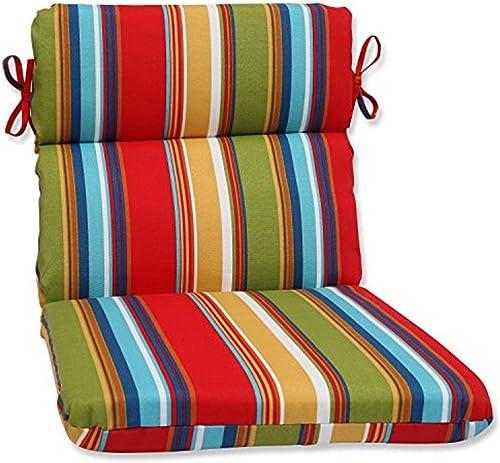 Pillow Perfect 566238 Outdoor/Indoor Westport Garden Round Corner Chair Cushion