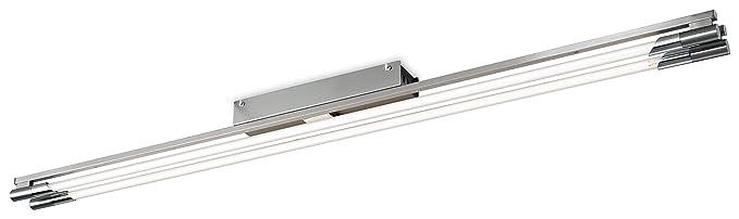 Firstlight 2339BS T5 54 Watt tubo fluorescente de Casa lámpara de techo, acero pulido