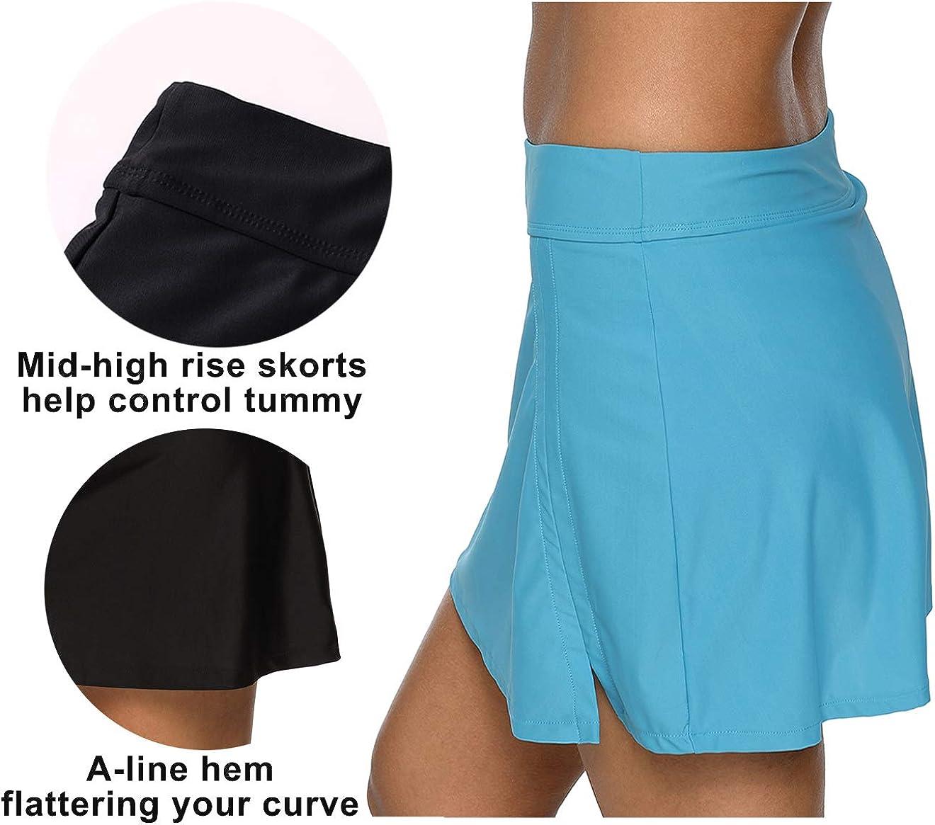 BeautyIn Womens Swim Skirts Tankini Swimsuit Shorts