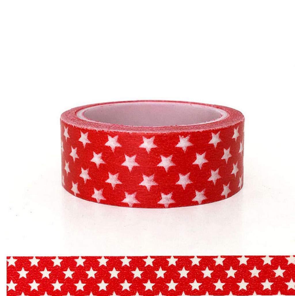LAANCOO Navidad Conjunto De Cintas Washi Tape Presente Colecciones Arte del Arte Paquete De Papel De Regalo Rojo Y Set