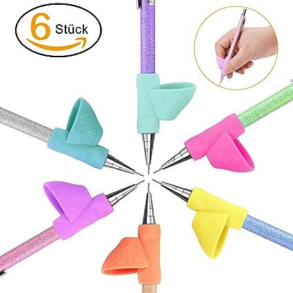 Agarrador de Lápiz, POAO 6 Piezas Corrector de escritura para niños para corregir la postura y el agarre del lápiz (B)
