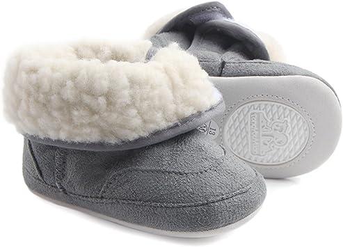 KVbaby Bottes Bottines Mixte b/éb/é Chaussons Chaud B/éb/é Souple Chaussures Premiers Pas B/éb/é 0-12 Mois