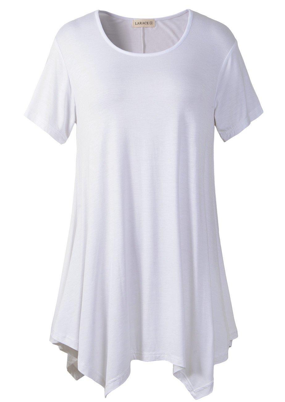 69f863613e0 LARACE Womens Swing Tunic Tops Loose Fit Comfy Flattering T Shirt (S ...