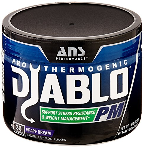 ANS Performance Diablo PM, Relaxation and Recovery Sleep Formula with Fat Burning Properties, Grape Dream, 30 Servings