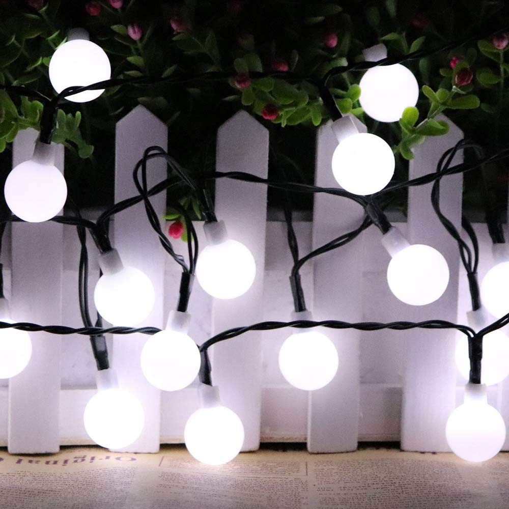 Clearance!!! Glumes LED Solar String Light Scrub Ball Lights, 30 Lamp 20 ft 8 Modes, Fairy String Light for Home Christmas Tree Party Xmas Holiday Wedding New Year Garden Decoration