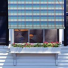 "Natural Bamboo Roll Up Window Blind Roman Sun Shade WB-BCT003 (W42"" X H72"")"