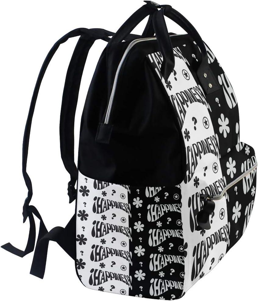 FANTAZIO Mummy Bag Backpack Happiness Patterns School Bag