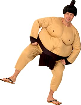 Traje traje de gordo luchador de sumo. Tamaño: M / L, con ...