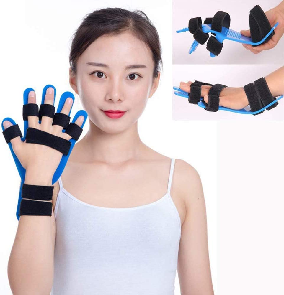 LXT PANDA Dispositivo de Entrenamiento de Dedos, férula de Dedo Diapasón Separador de Dedos Puntos ortopédicos Entrenamiento de muñeca de Mano Órtesis para accidente cerebrovascular/Hemiplejia.