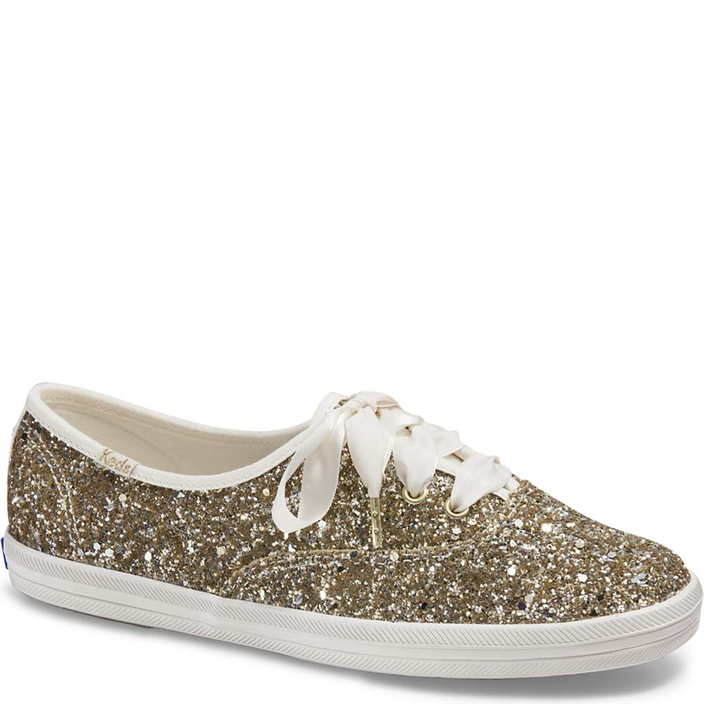 Keds x Kate Spade New York Champion Glitter Women 9 Platinum Gold