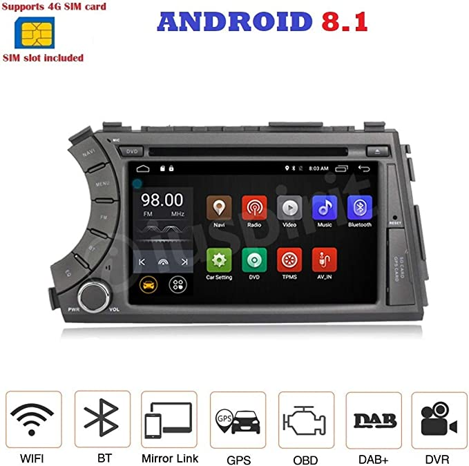 Android 7.1 4G LTE GPS DVD USB SD Wifi Bluetooth Radio 2 Din ...