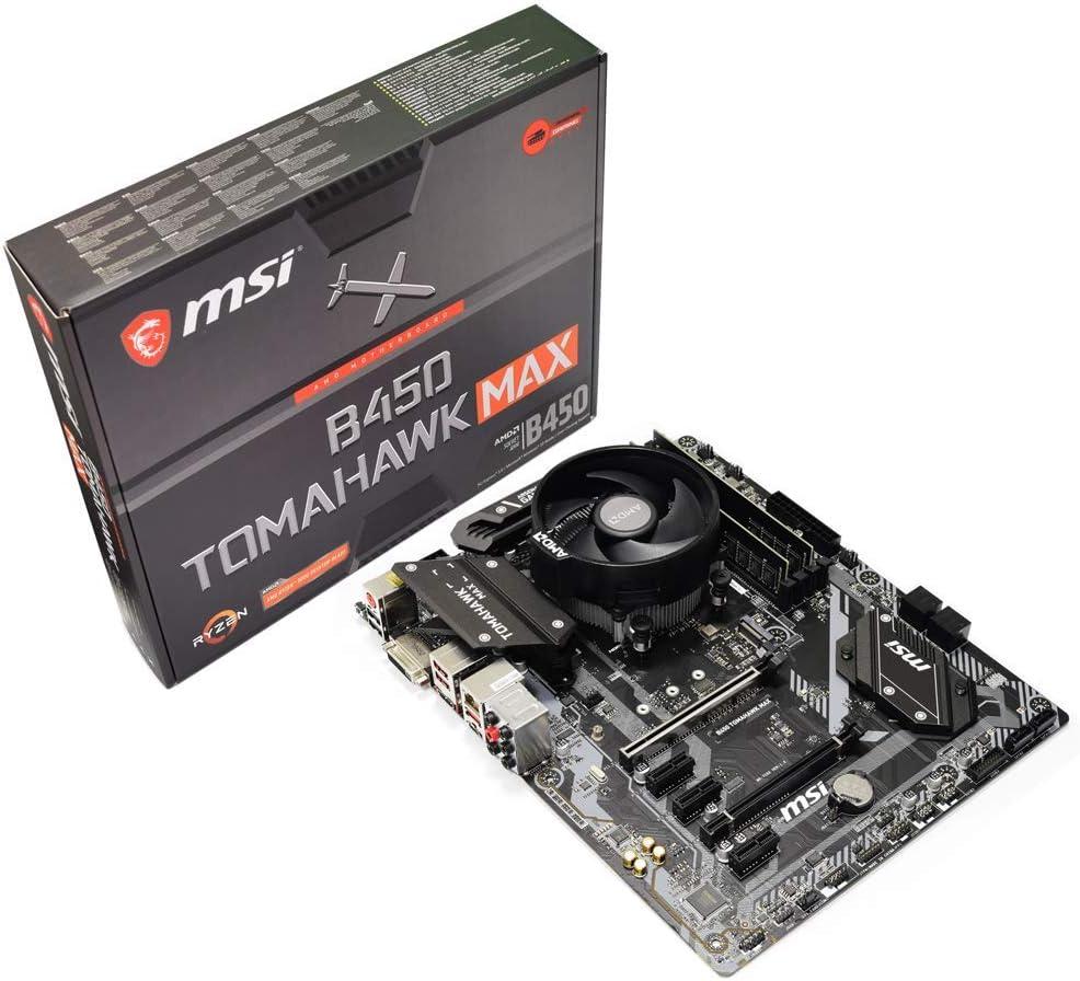 ADMI CPU Motherboard Bundle: AMD Ryzen 5 3400G 4.2GHz with Radeon Vega 11 Graphics, MSI B450 Tomahawk MAX Motherboard, No RAM