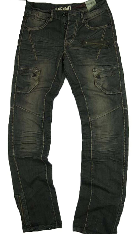 #M1489-N034 Men's Relax Straight Leg Stylish Premium Jeans Size: 28-33