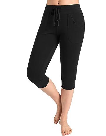 9c6febf268dcb Weintee Women's Capri Joggers Jersey Sweatpants