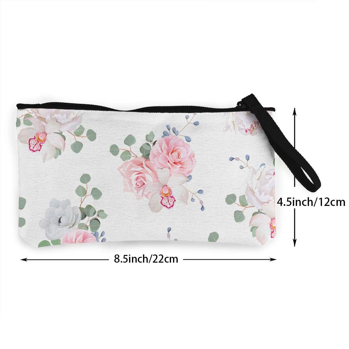 Yamini Pink and White Thorny Roses Cute Looking Coin Purse Small and Exquisite Going Out to Carry Purse