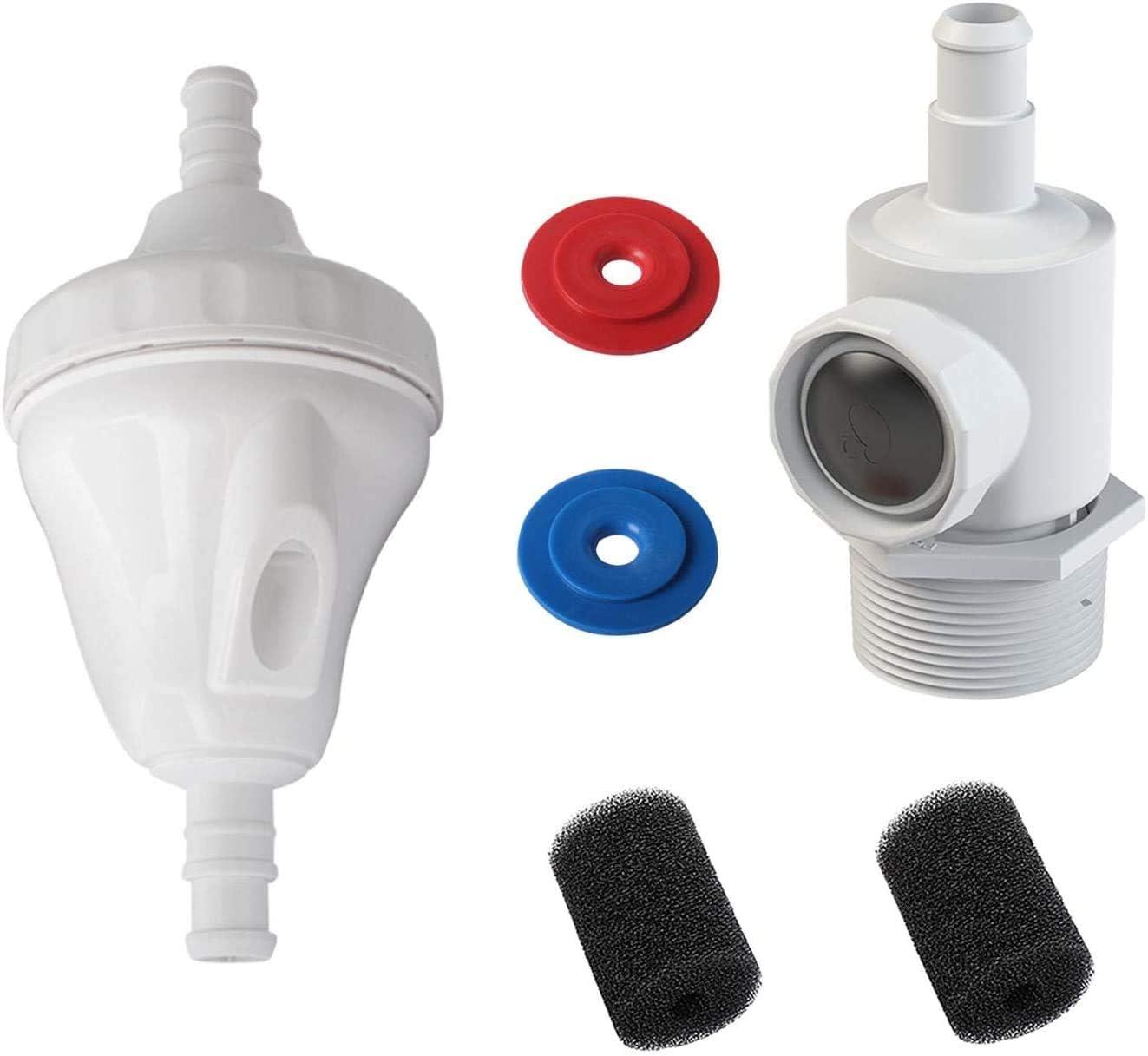 Poweka G52 V/álvula Kit de Repuesto Compatible con Polaris 180 380 con 9-100-9001 Conjunto de Conector y 9-100-3105 Lavador de Cola de Manguera de Barrido 280