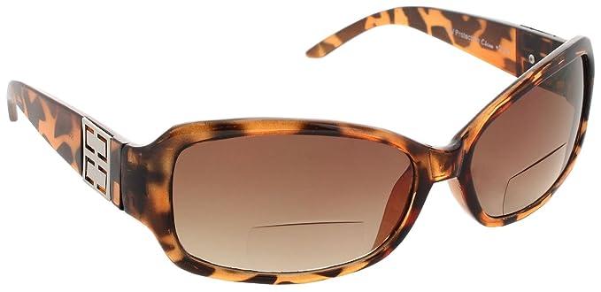b21e47d446f4 Womens Bifocal Sunglasses Sun Reader Rectangle Fashion Glasses Reading  Glasses  Brown Tortoise