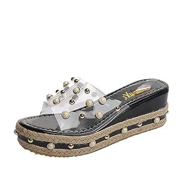 Amazon.com: Zapatos de Verano, aimtoppy perla sandalias ...