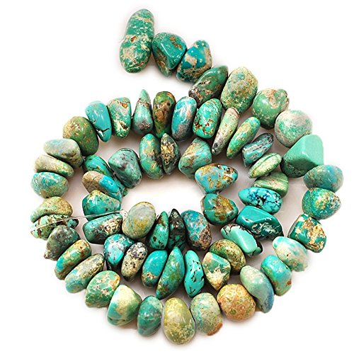 01 Blue Hubei Turquoise Nugget 8-17mm for Necklace Gemstone Loose Beads 15