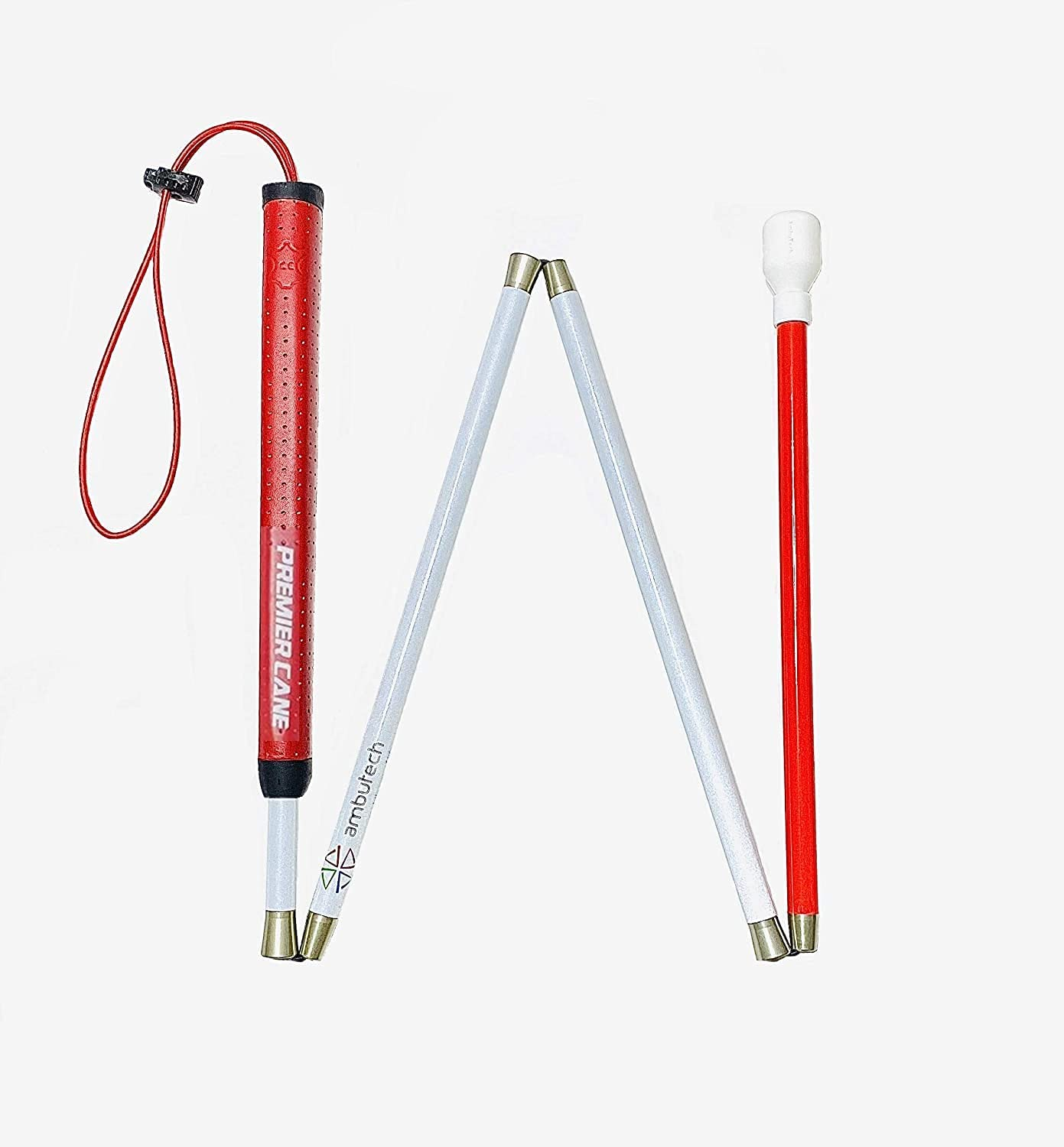 Ambutech Premier Aluminum Cane for The Blind or Visually Impaired (59-Inch)