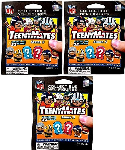 NFL TeenyMates Series 5 Linemen LOT of 3 Mystery Packs
