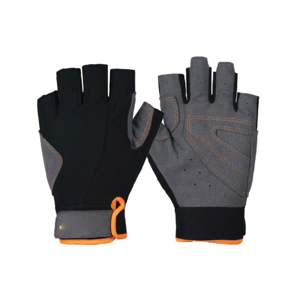 LDFN Breathable Outdoor-Handschuhe Zum Laufen Fahren Skifahren Skating Klettern Motorrad-Handschuhe,schwarz+Orange-M