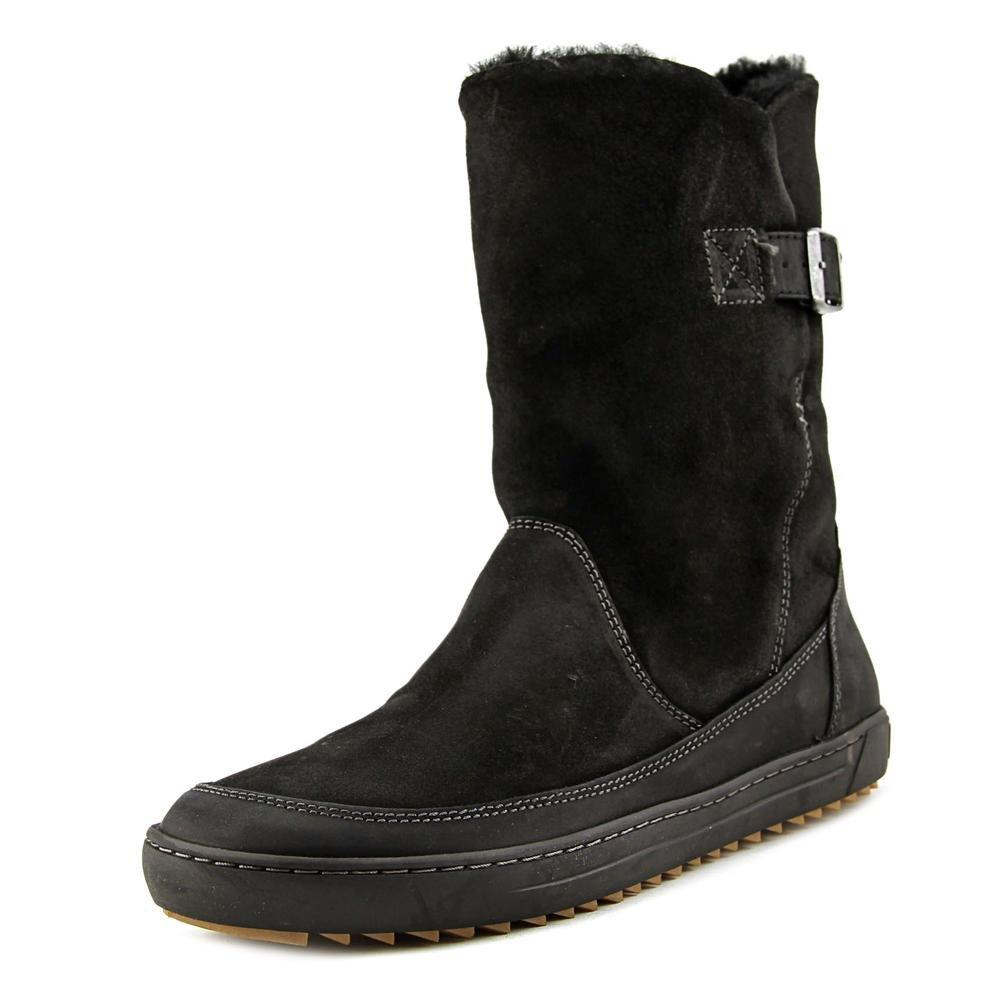 Birkenstock Women's Woodbury Shearling Lined Boot Black Nubuck (39 M EU)