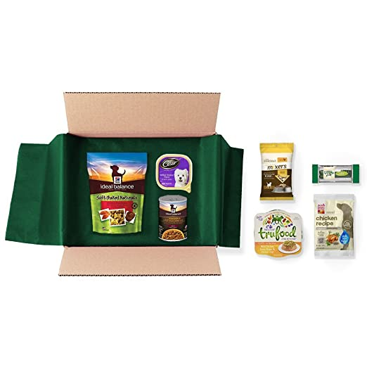 Dog Food and Treats Sample Box, 7 or more samples ($9.99 credit with purchase)