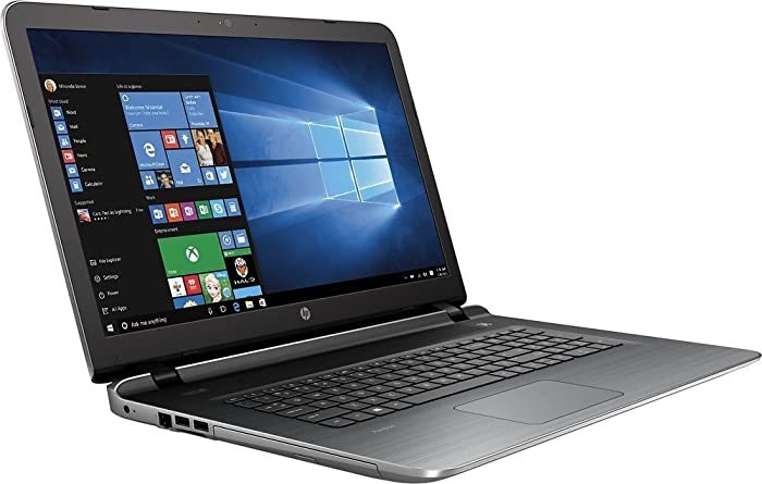 """2017 HP Silver 17.3"""" Pavilion 17-g121wm Laptop PC with AMD A10-8700P Processor, 8GB Memory, 1TB Hard Drive and Windows 10 Home"""