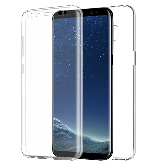 best service 6d99b 20a4d JNSupplier Galaxy S8 Plus Case,360° Crystal Clear TPU Full Body Cover  Protector Case for Samsung Galaxy (Samsung Galaxy S8 Plus)