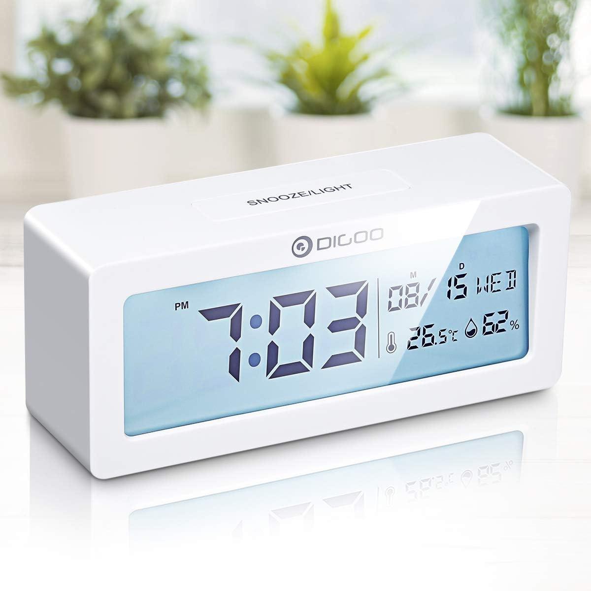 Reloj / despertador digital Digoo con calendario y termómetro por 10,99€ usando el #código: FAQTGFP6