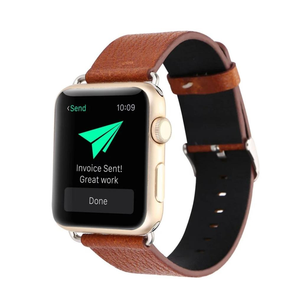 耐久性レザー時計ストラップ、RTYOu ( TM )新しい革バックル腕時計バンドストラップベルトfor Apple Watch 38 mm Watch One size オレンジ オレンジ オレンジ B0789CZN65