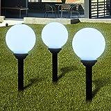 Lampione solare a LED da giardino 20 cm 3pz con picchetto