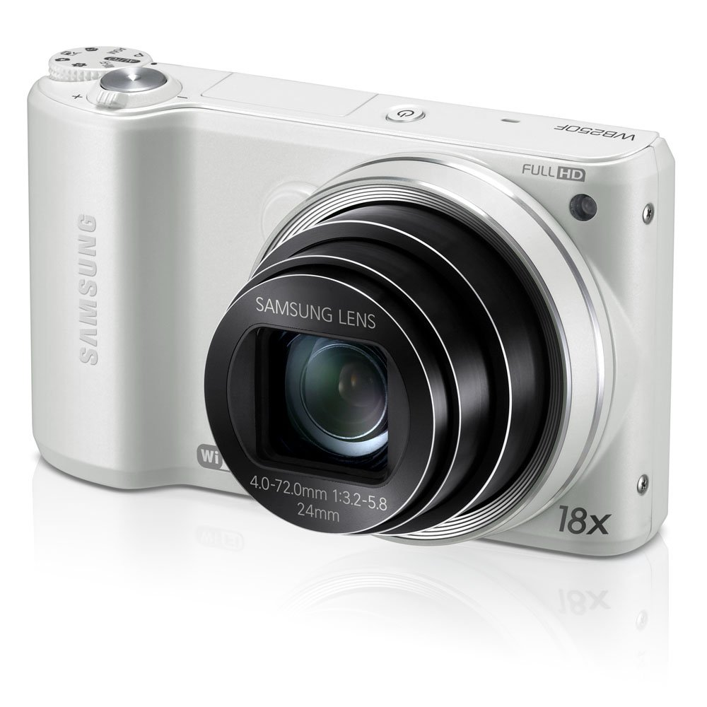 Samsung WB250F 14.2MP CMOS Smart WiFi Digital Camera with 18x Optical Zoom, 3.0''  Touch Screen LCD and 1080p HD Video (White) (OLD MODEL)