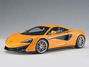 McLaren 570S McLaren Orange with Silver Wheels 1/18 Model Car by Autoart 76044