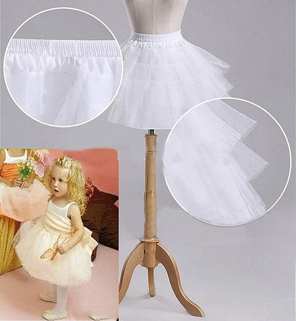 KLgeri 3 Layers Petticoats Slips Crinoline Apparel Flower Girl Skirt Underskirts