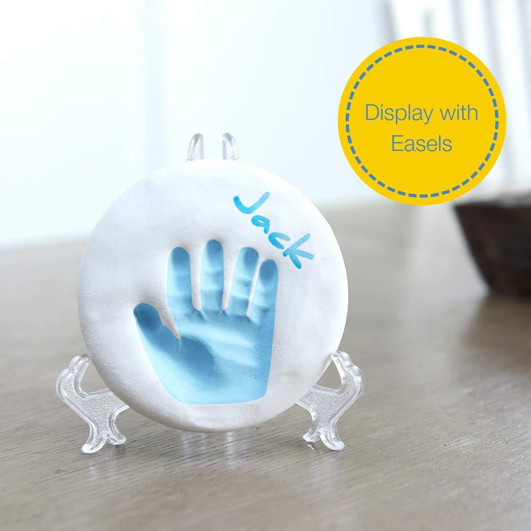 Recuerdo memorable de huellas de mano y pie Ideal para decoraci/ón o regalo de baby shower Regalos para bebes y reci/én nacidos Bubzi Co Set de decoraci/ón de huellas de beb/é en arcilla blanca