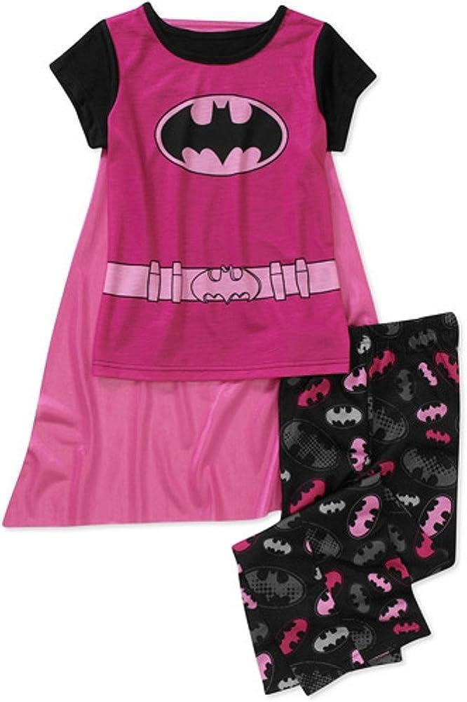Girls DC Comic Pjs Kids Superhero Pyjamas Supergirl Wonder Woman Batgirl 4-10YRS