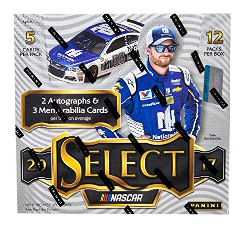 2017 Panini Select Racing Hobby Box - Look For 2 Autos & 3 Mems Per Box! - Panini Certified - Autographed NASCAR Cards from Sports Memorabilia