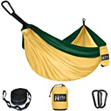 Hieha Camping Hammock - Single Parachute Hammock (2 Tree Straps & D-Shaped Carabiners 5+1 Loops/13ft Included…