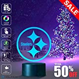 #9: Steelers Logo Design Lamp, Football logo lamp, Best Christmas Gift, Decoration lamp, 7 Color Mode, Awesome gifts (MT230)